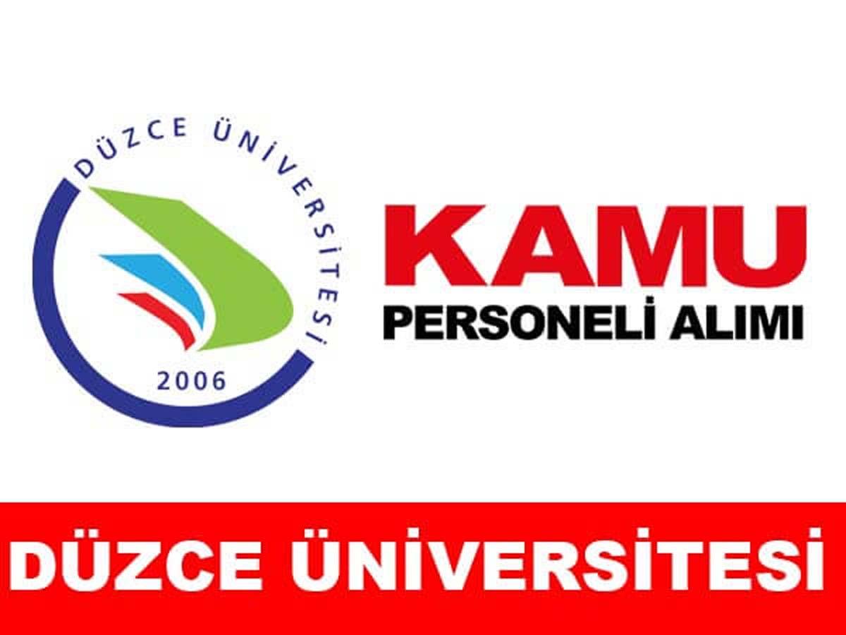 Düzce Üniversitesi Personel Alımı