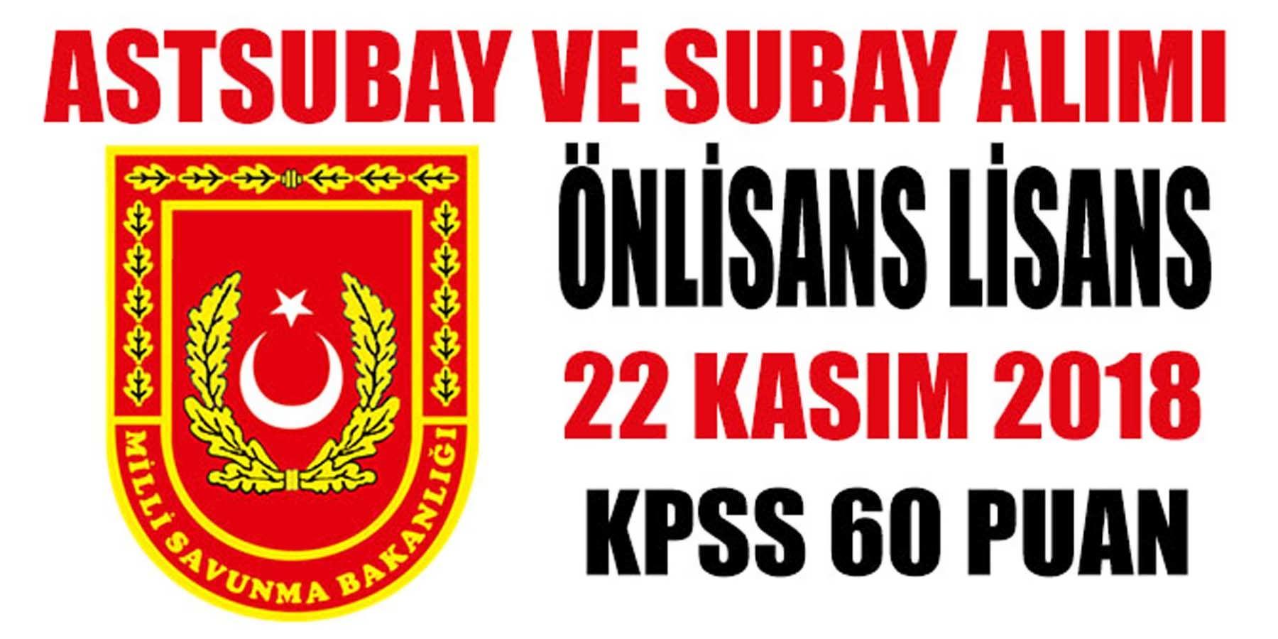MSB KPSS 60 Puanla Astsubay ve Subay Alımı Yapıyor