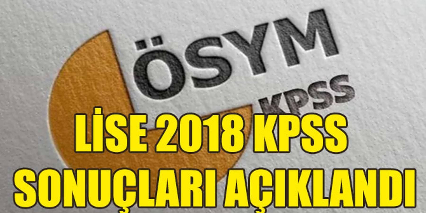 KPSS 2018 Lise Sonuçları Açıklanması Gün İçerisinde Bekleniyor