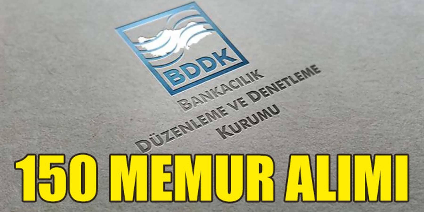 BDDK 150 Kamu Personeli Alımı (Meslek Personeli)