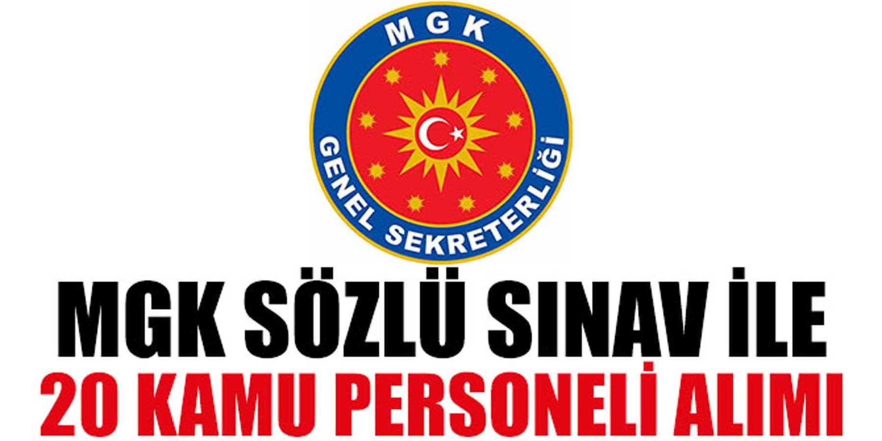 MGK Genel Sekreterliği 20 Kamu Personeli Alımı