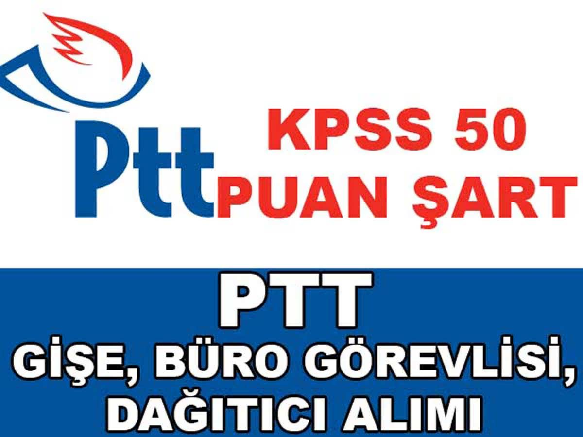 PTT Personel Alımı 7 Ocak 2016