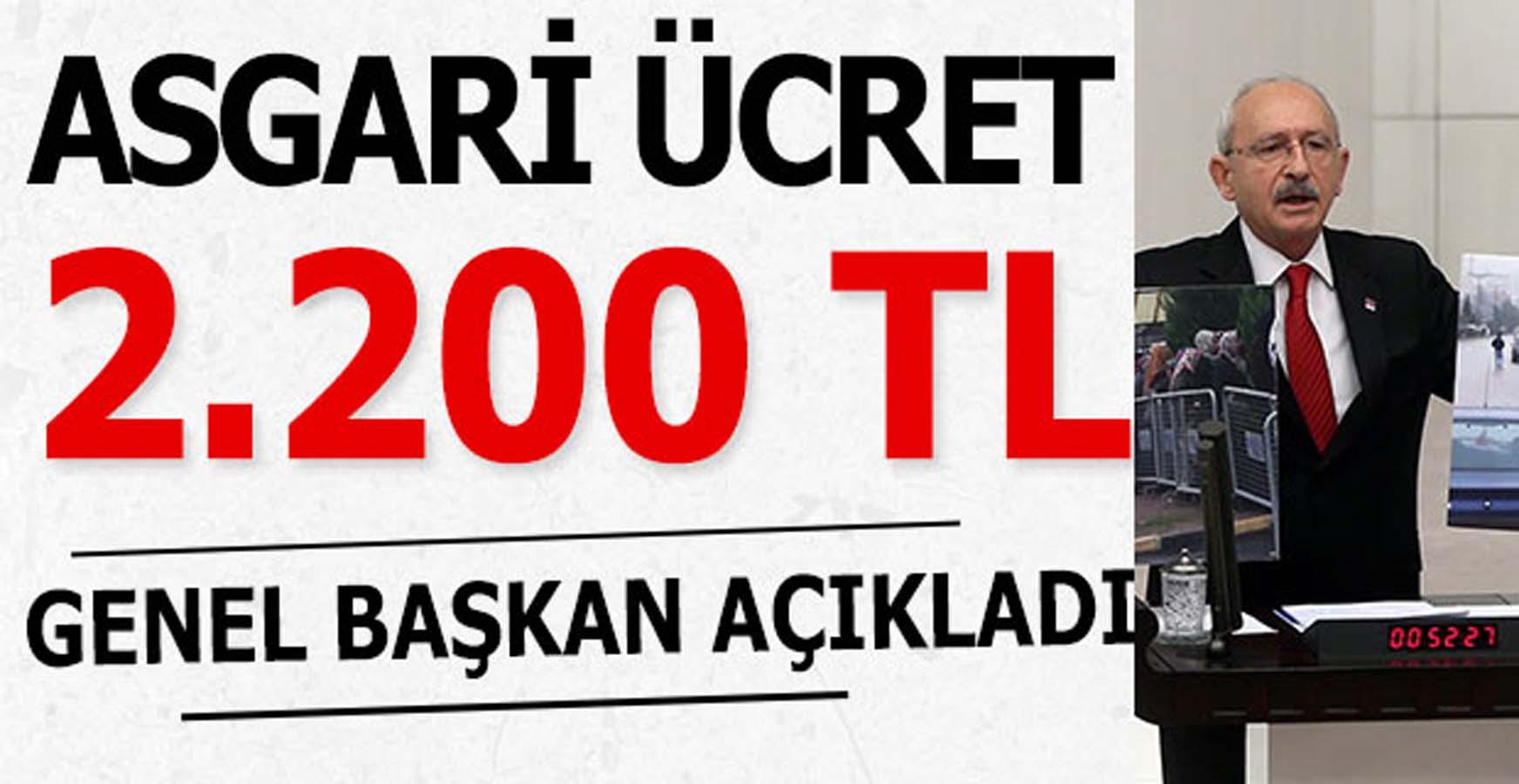 Genel Başkan Açıkladı Asgari Ücret 2 Bin 200 TL