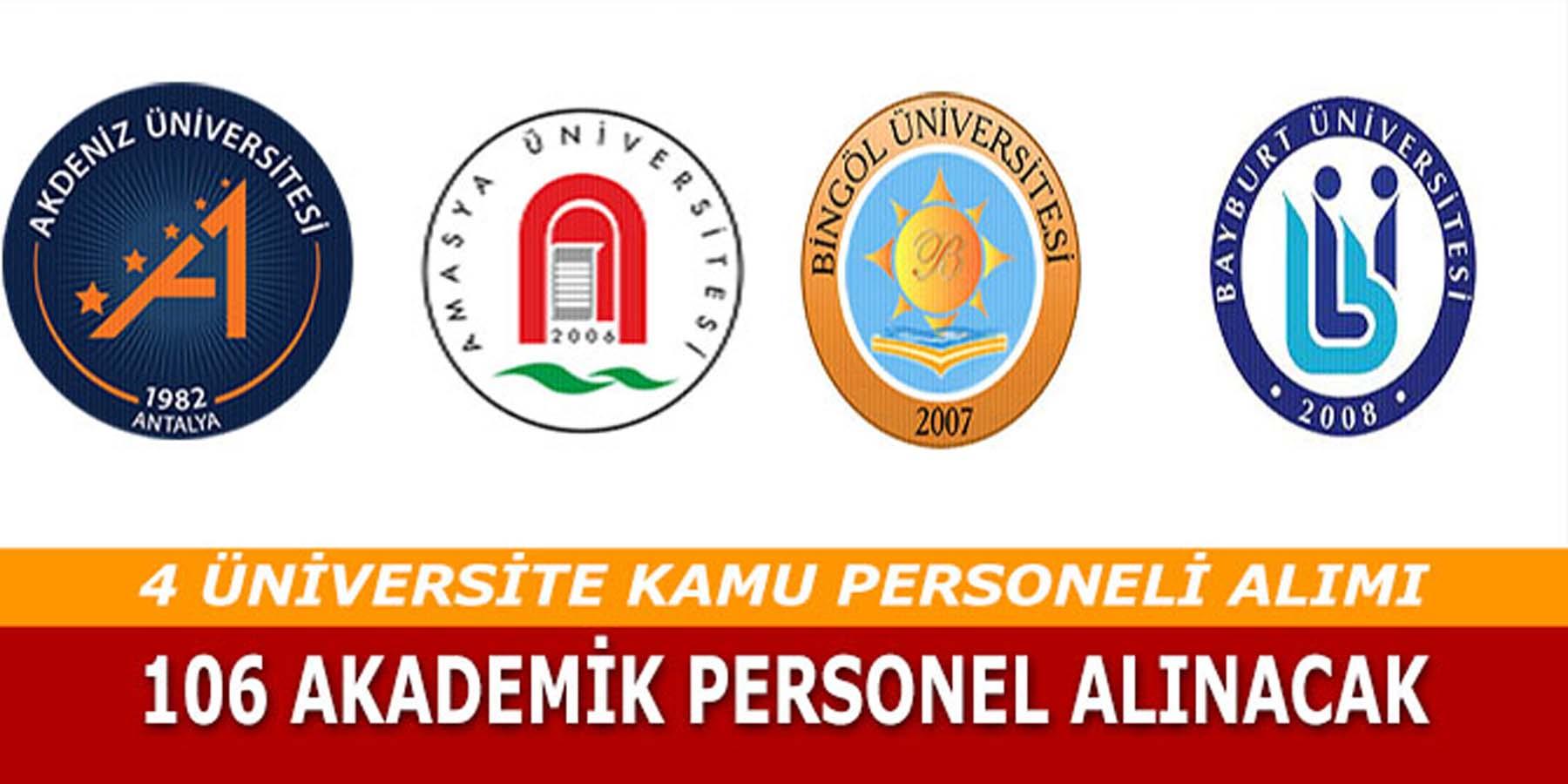 Dört Farklı Üniversiteye 106 Akademik Kamu Personeli Alınıyor
