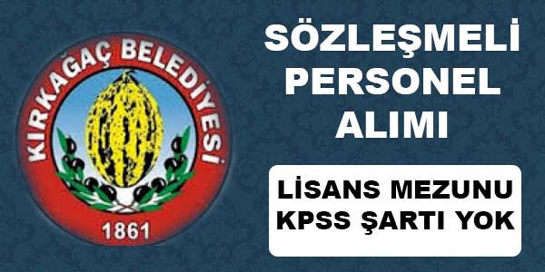 Kırkağaç Belediye Başkanlığı Personel Alımı
