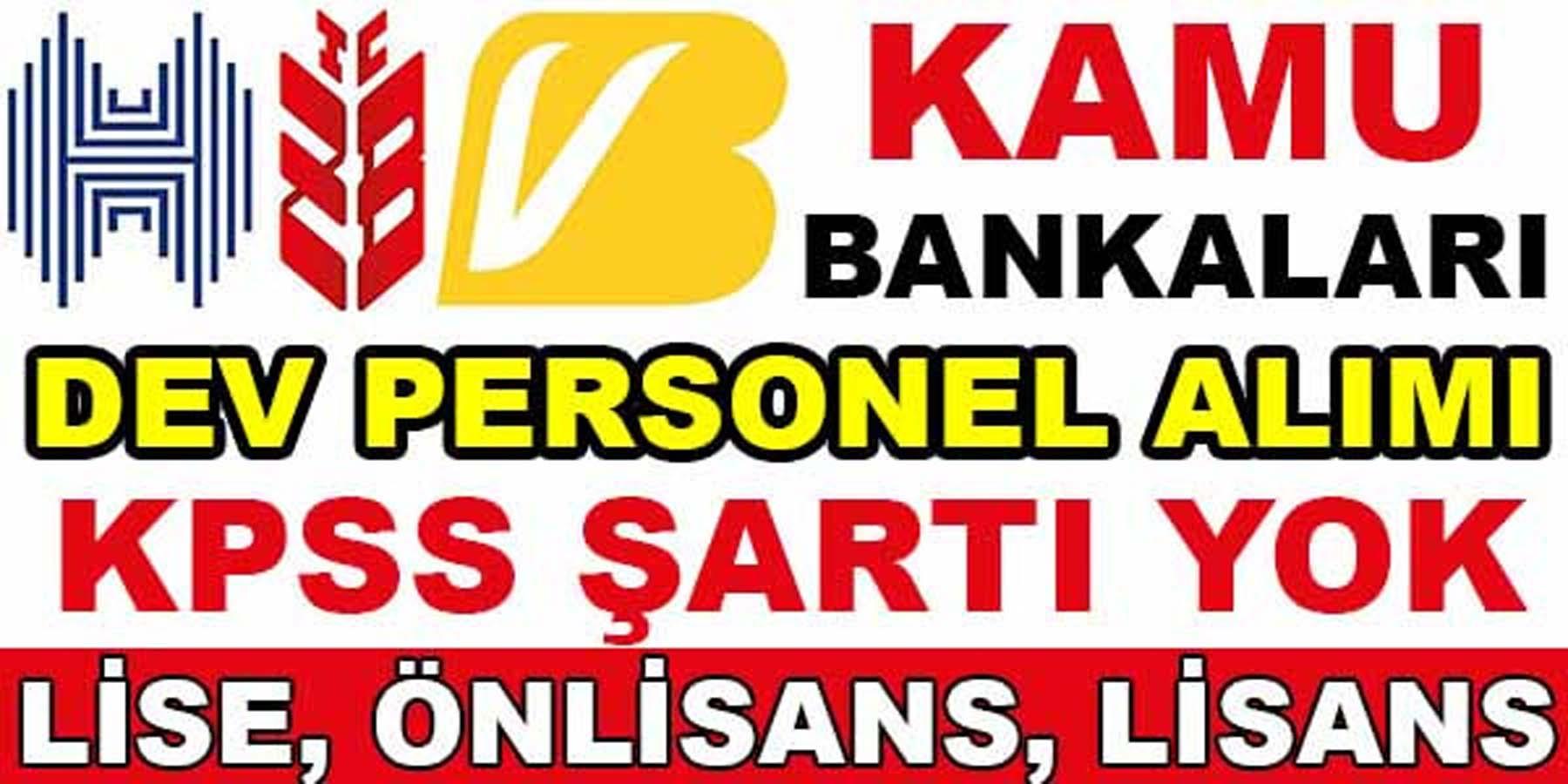 Kamu Bankaları 29 İlde Dev Personel Alımı