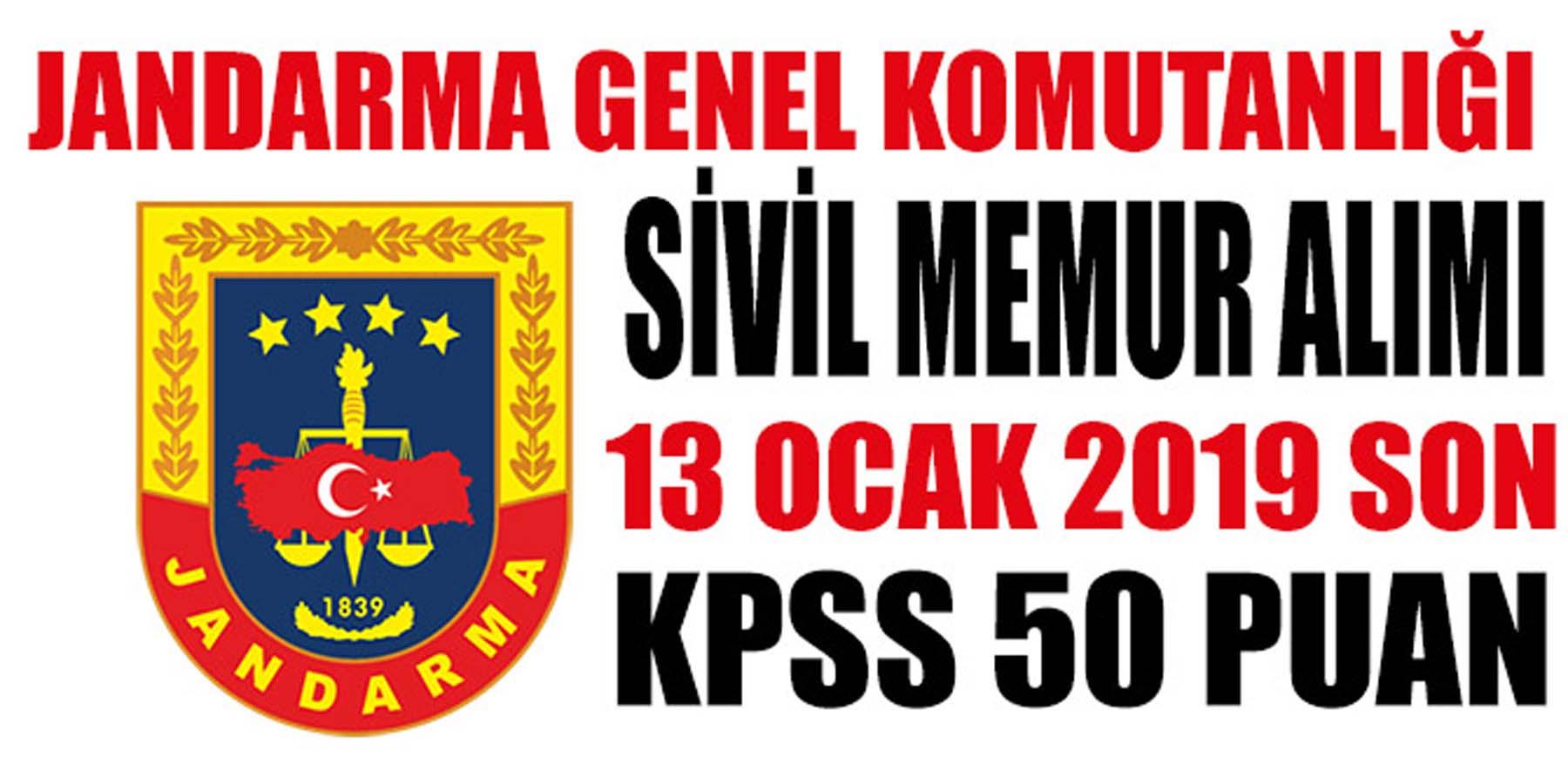 JGK JSGA KPSS 50 Puan İle Sivil Memur Alımı
