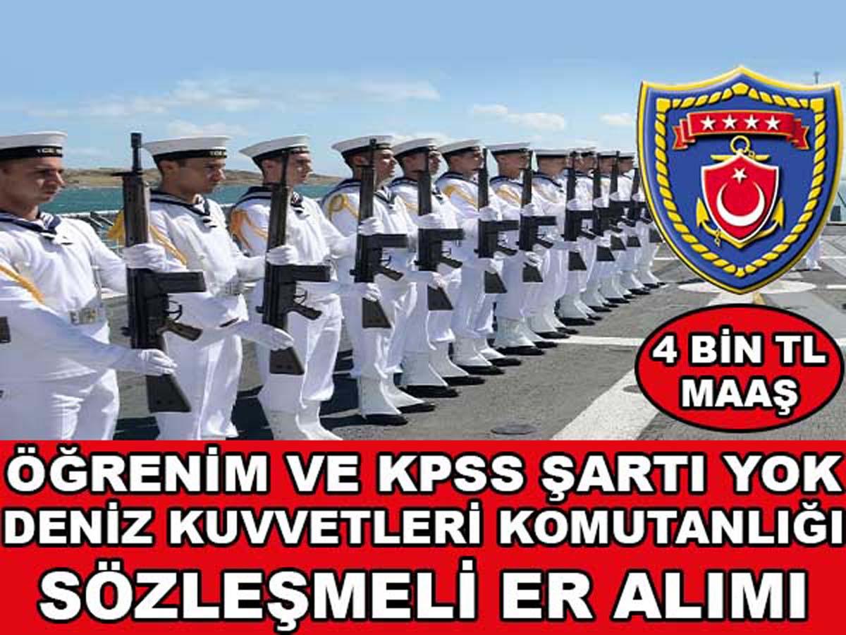 Deniz Kuvvetleri Komutanlığı Sözleşmeli Er Alımı 2016