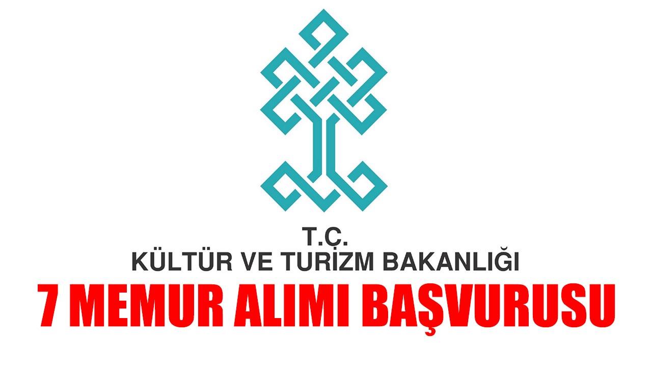 Kültür ve Turizm Bakanlığı 7 Memur Alımı Başvuruları