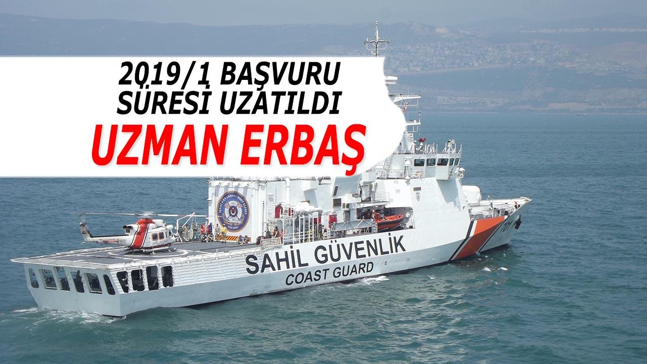Sahil Güvenlik Komutanlığı 2019/1 Uzman Erbaş Alımı Başvuru Süresi Uzatıldı