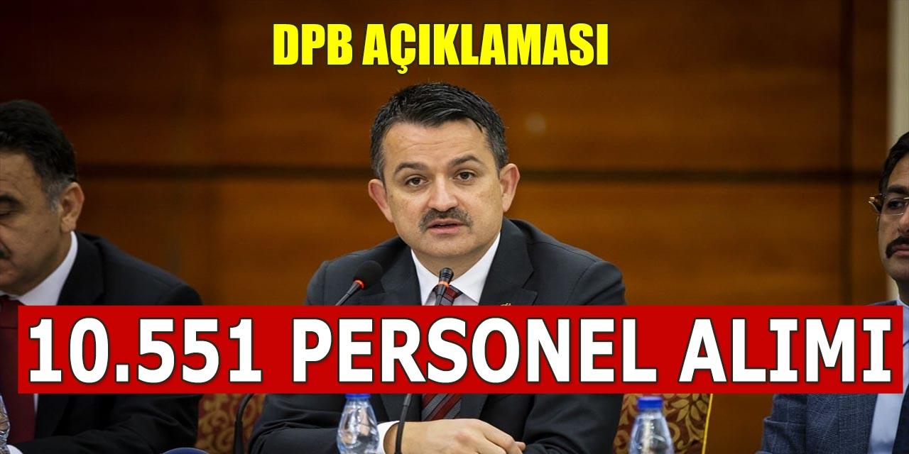 Tarım ve Orman Bakanı DPB Personel Alımı Açıklaması