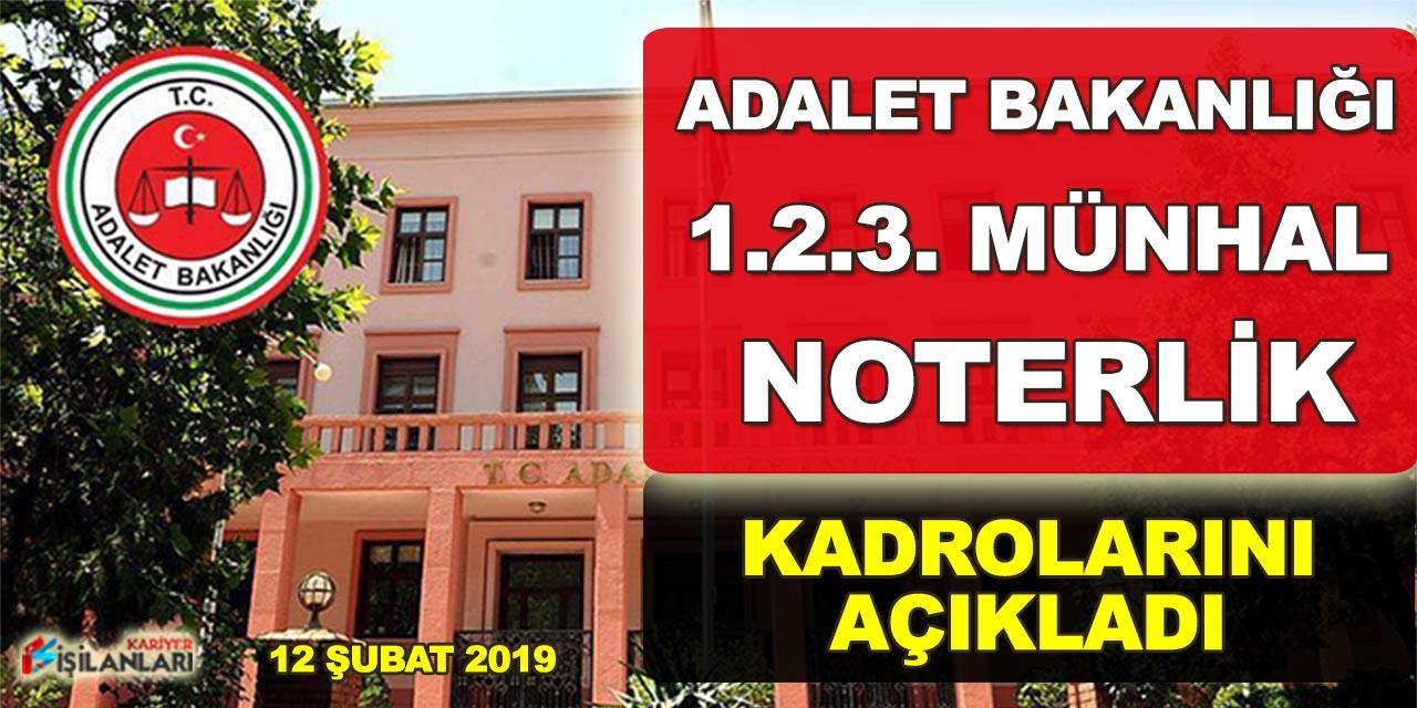 Adalet Bakanlığı Münhal Noter Kadrolarını Açıkladı