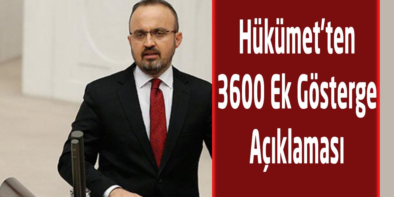 Hükümet'ten 3600 Ek Gösterge Açıklaması