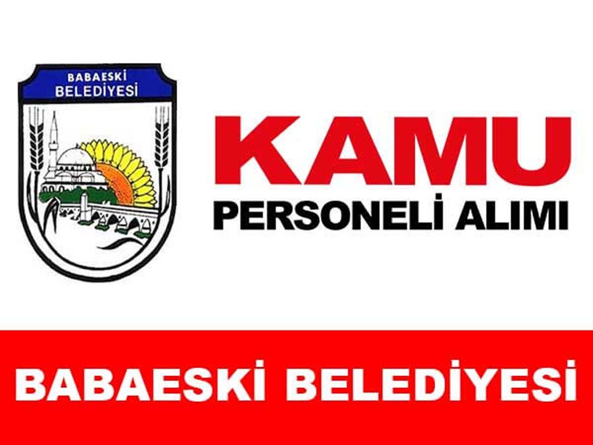 Babaeski Belediye Başkanlığı Daimi Personel Alımı