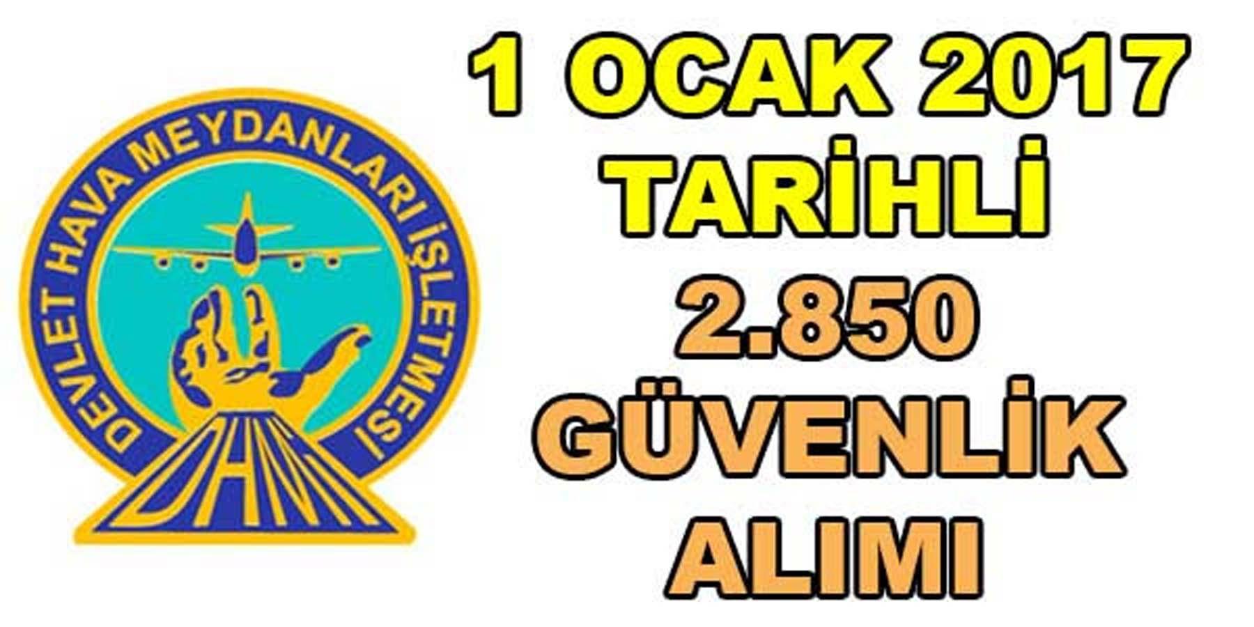 DHMİ 1 Ocak'ta 2.850 Personel Alımı Yapacak