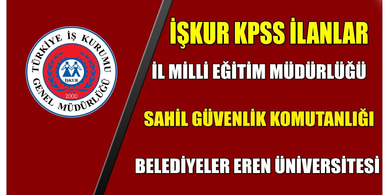 İŞKUR'dan KPSS'siz İlanlar! Kamu Personelleri Alınıyor