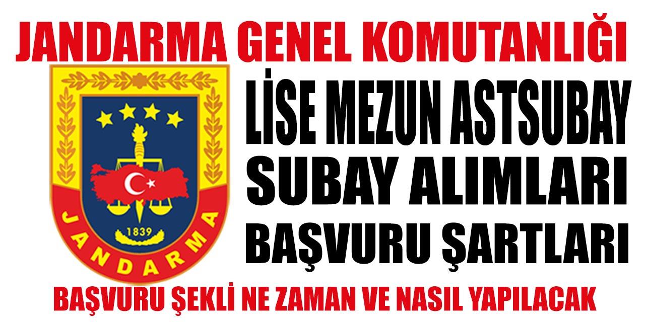 Jandarma Lise Mezunu Astsubay Subay Alımı Şartları ve başvuru şekli