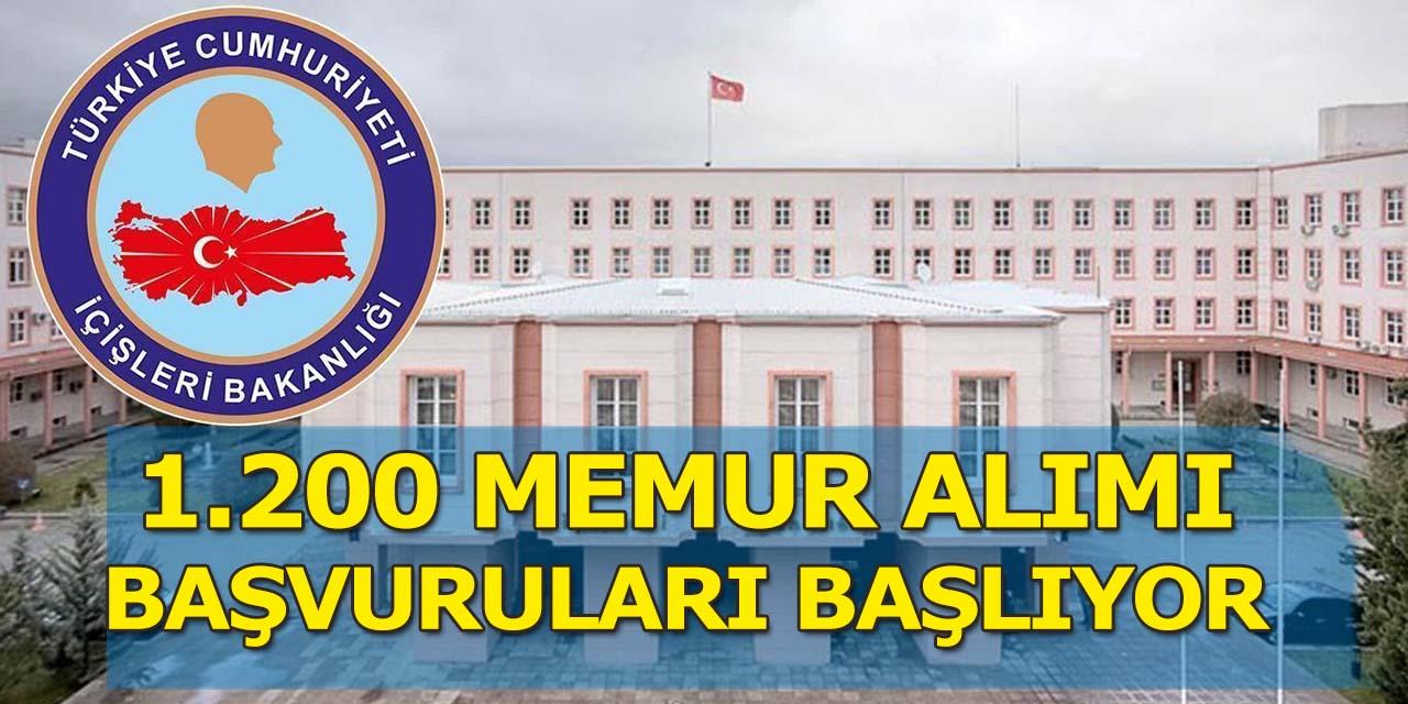 İçişleri Bakanlığı 1.200 Memur Alımı Başvuruları 21 Şubat'ta Başlıyor