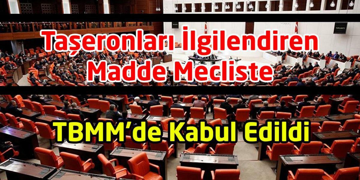 Taşeron İşçileri İlgilendiren Madde Mecliste Kabul Edildi