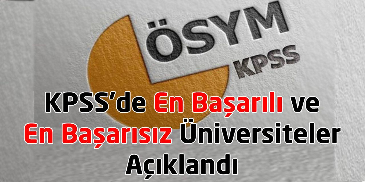 KPSS'de En Başarılı ve En Başarısız Üniversiteler Açıklandı