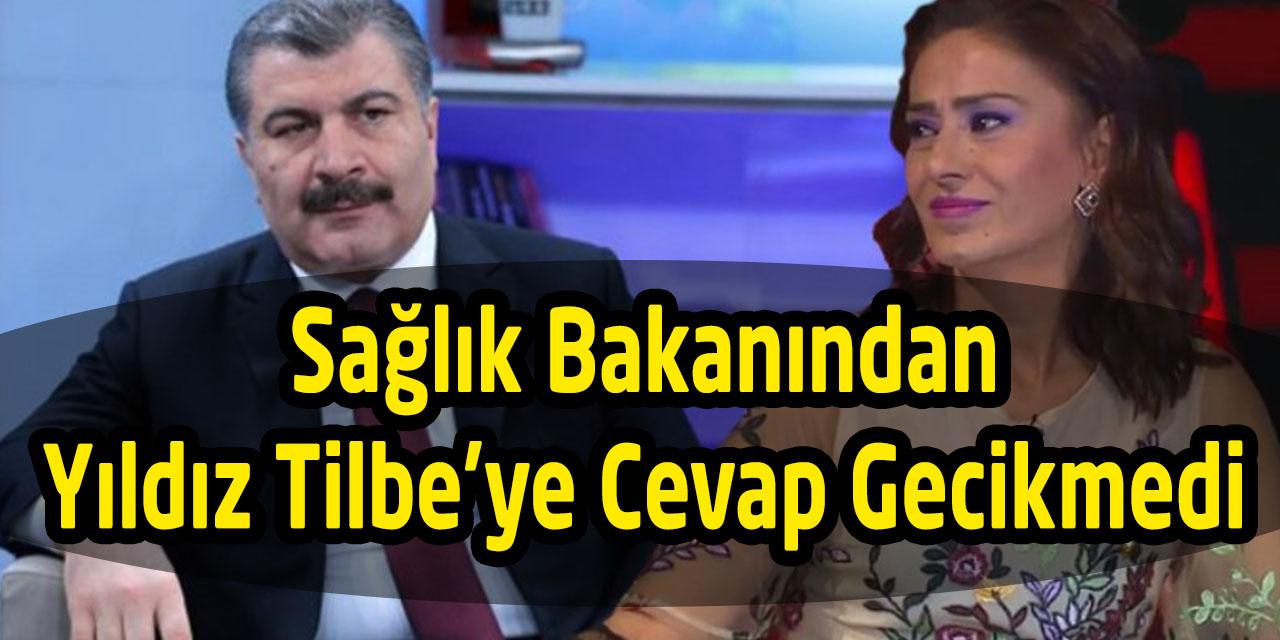 Sağlık Bakanı Yıldız Tilbe'ye Cevap Verdi