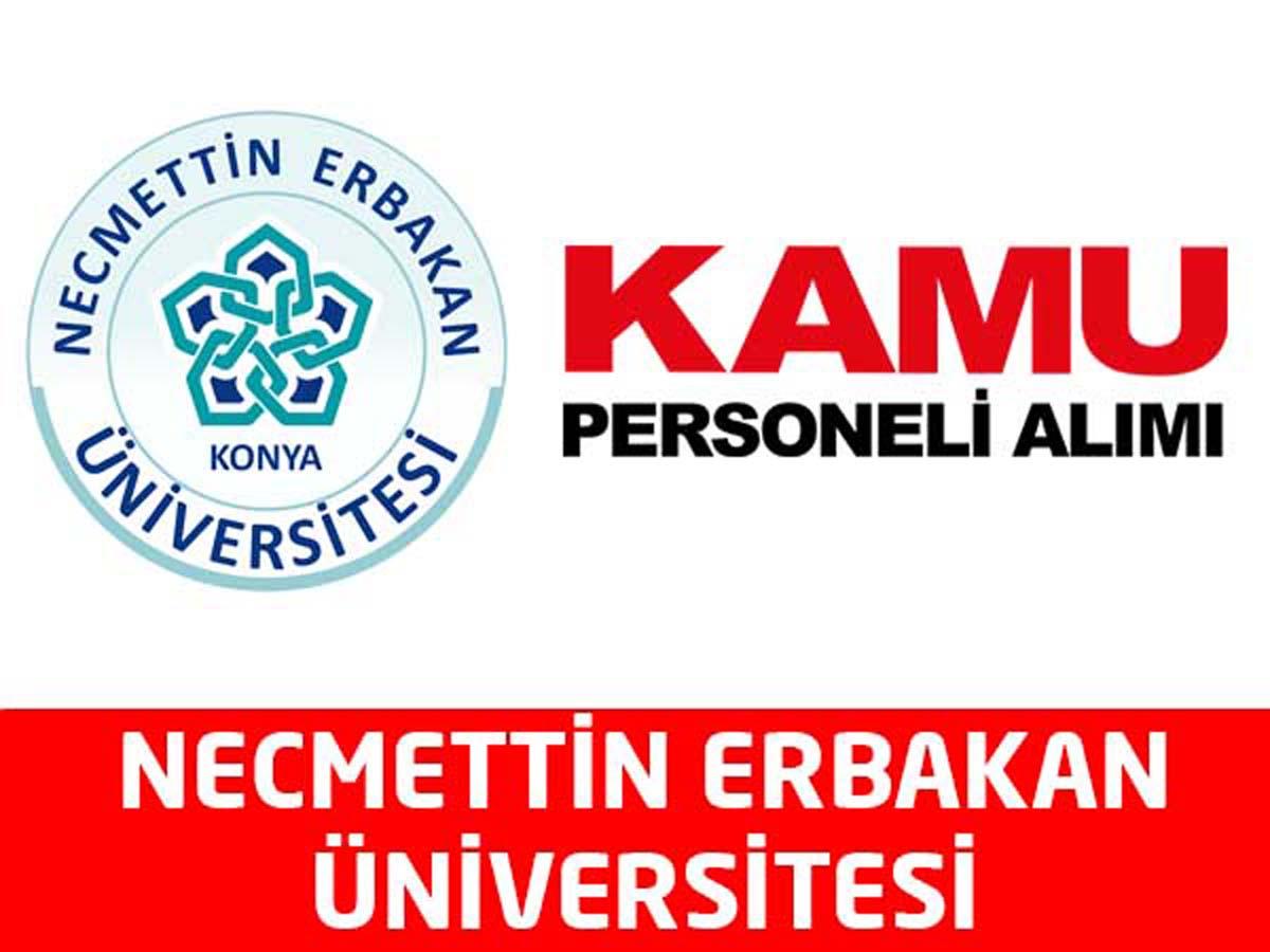 Necmettin Erbakan Üniversitesi Sözleşmeli Personel Alımı