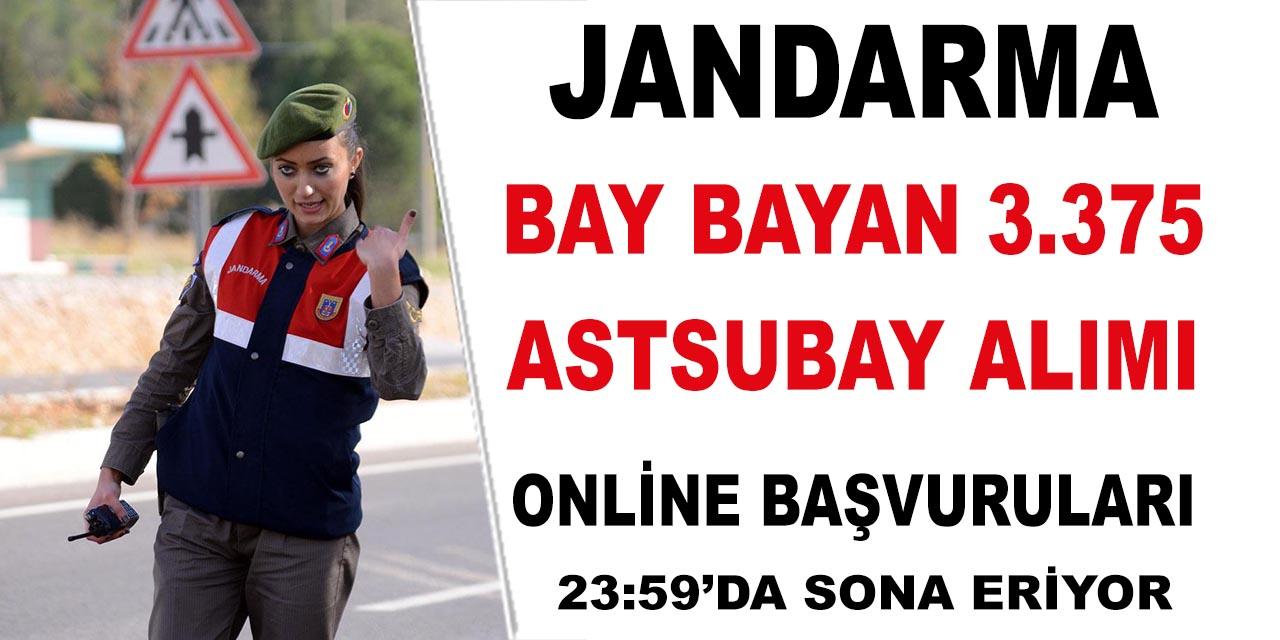 Jandarma 3.375 Astsubay Alımı Online Başvuruları Son Gün