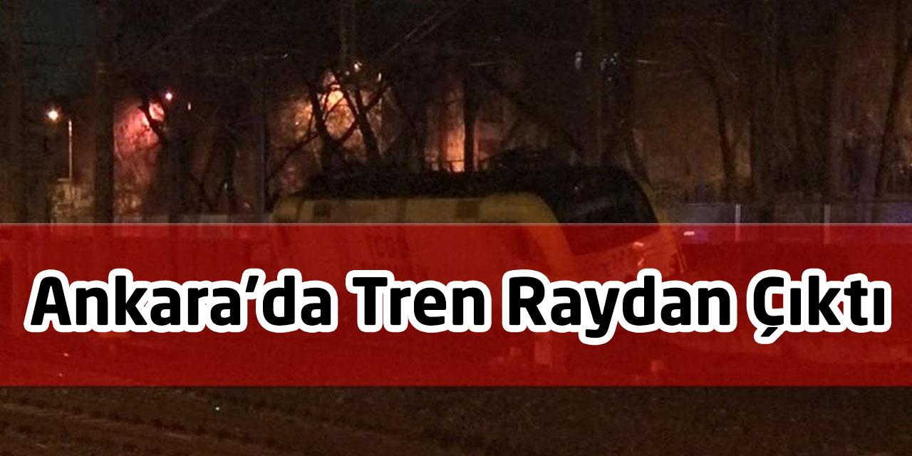 Ankara'da Tren Raydan Çıktı