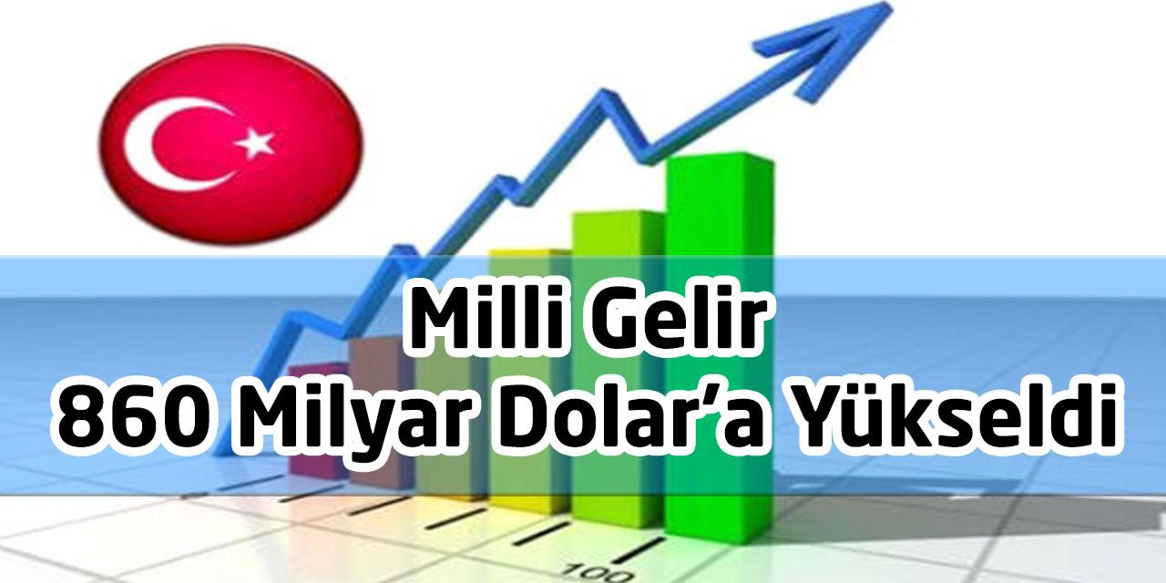 Milli Gelir 860 Milyar Dolar'a Yükseldi