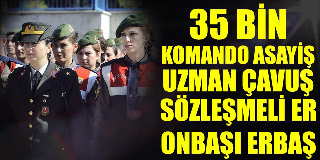 MSB JGK 35 Bin Komando, Asayiş, Sözleşmeli Er Erbaş, Uzman Çavuş Alımları