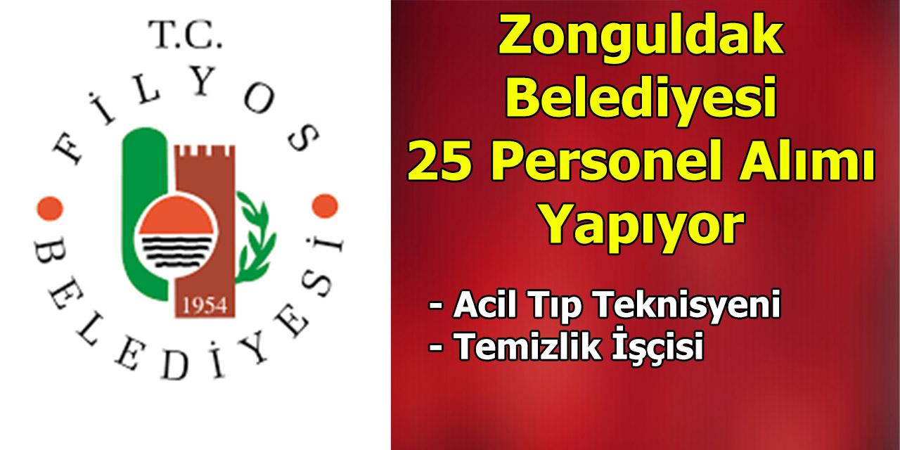 Zonguldak Belediyesi 25 Personel Alımı Yapıyor