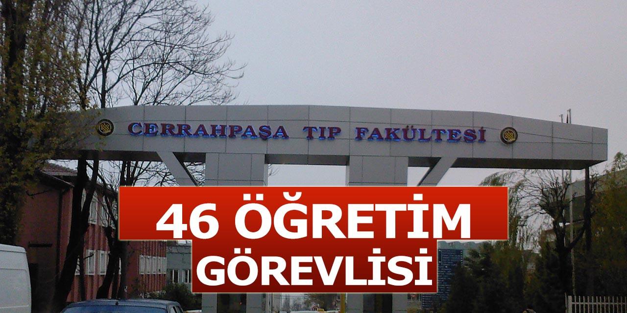 Cerrahpaşa Üniversitesi 46 Akademik Öğretim Görevlisi Alıyor