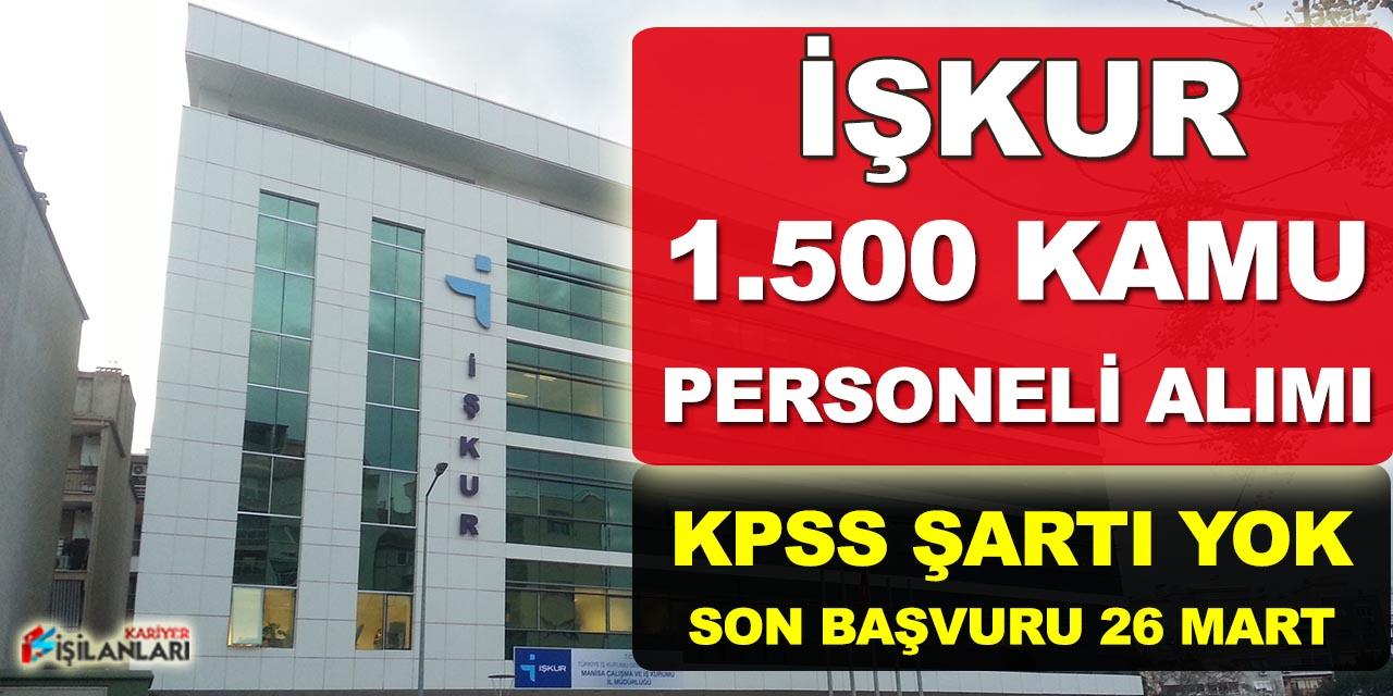 İŞKUR, TYP Kapsamında 1.500 İşçi Alımı Yapılıyor