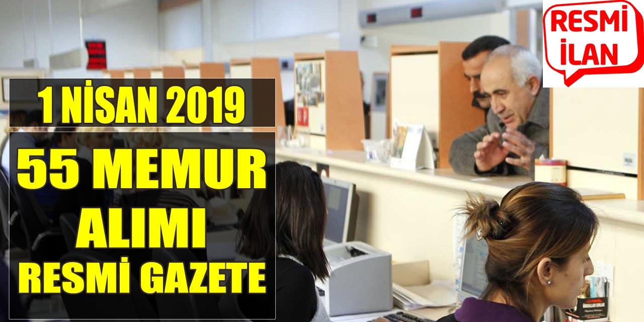 1 Nisan 2019 Resmi Gazete TÜBİTAK 55 Memur Alımı Yayımlandı