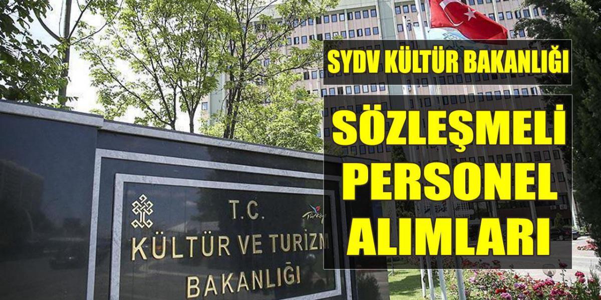 SYDV Kültür ve Turizm Bakanlığı Sözleşmeli Personel Alımları
