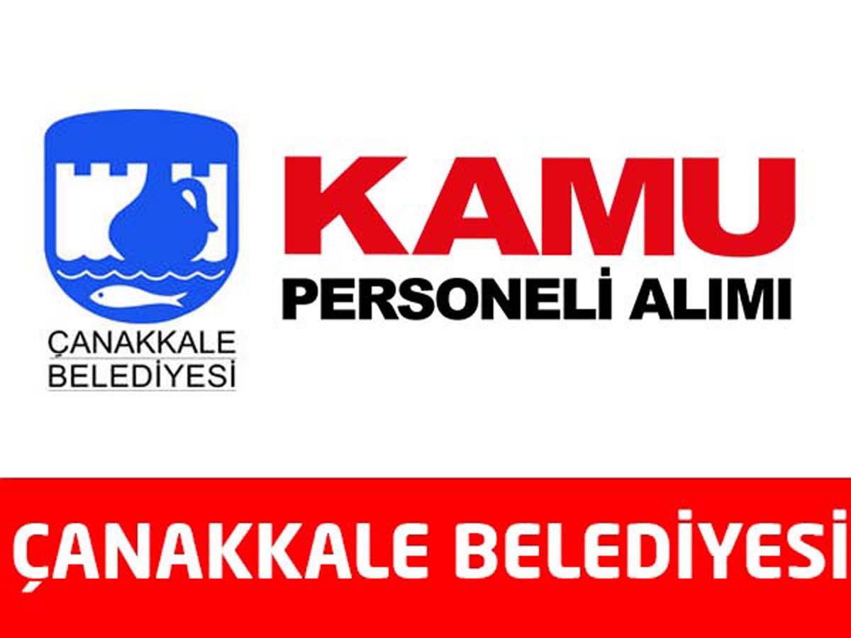 Çanakkale Belediyesi 25 Daimi Personel Alımı