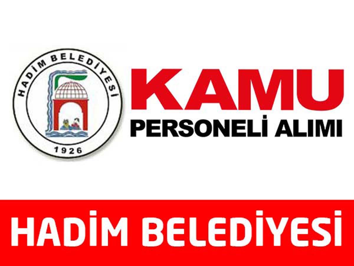 Hadim Belediye Başkanlığı Personel Alımı