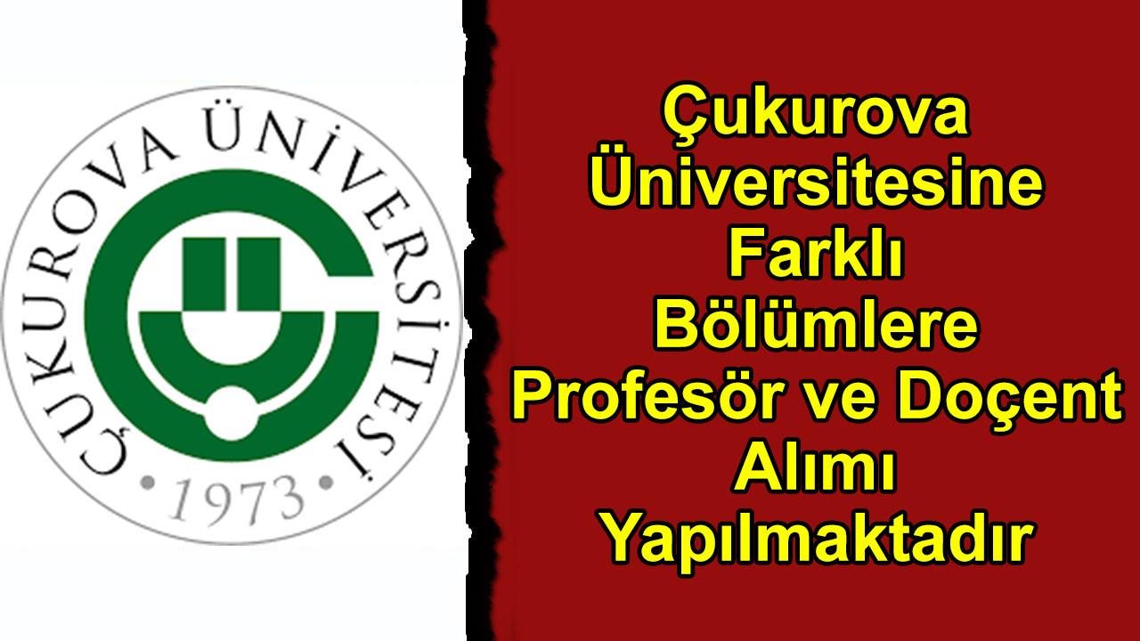 Çukurova Üniversitesine Farklı Bölümlere Profesör ve Doçent Alımı Yapılmaktadır